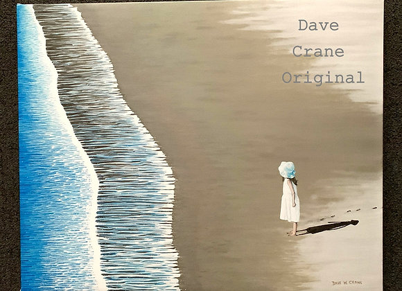 Watching the Waves Oil Paint Giclee