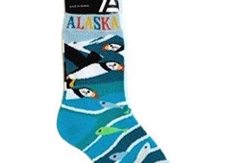 Puffin & Fish Youth Socks