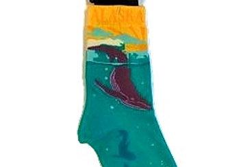 Retro Whale Youth Socks