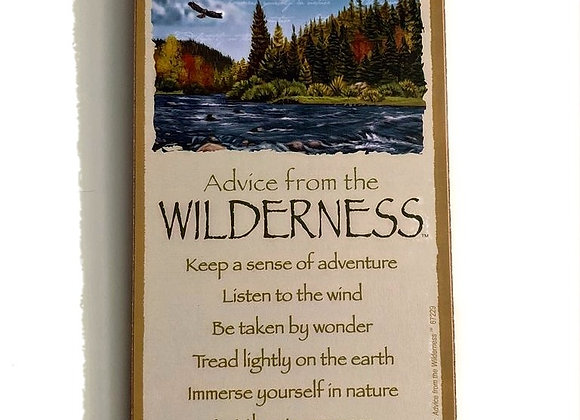 Advice from the Wilderness Sign