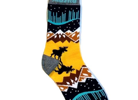 Aurora Moose Reflection Socks