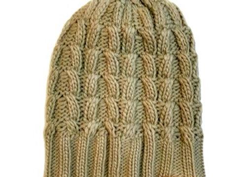 Tan Chunk Knit Hat