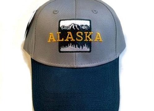 Black & White Mountains Baseball Hat