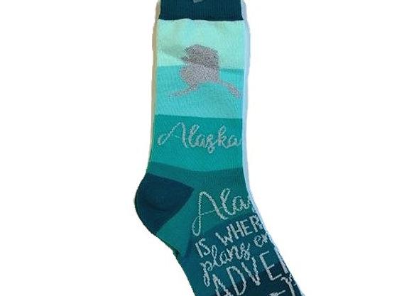 Womens Ombre Alaska Socks