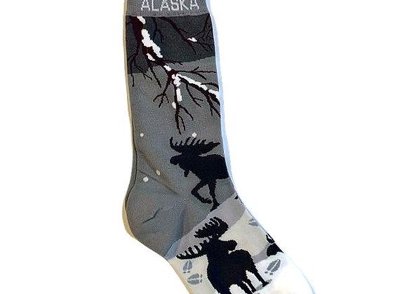 Womens Winter Moose Socks
