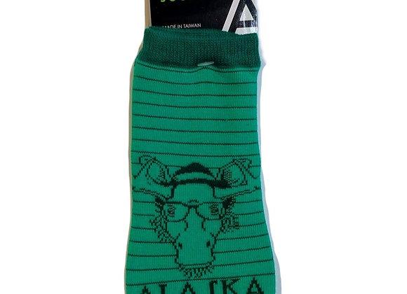 Hipster Moose Ankle Socks