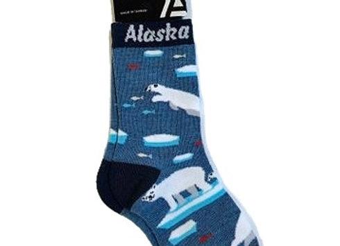 Happy Polar Bears Youth Socks