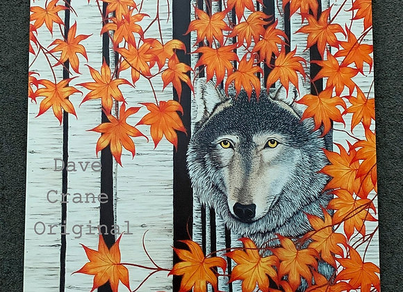 Wolf Oil Paint Giclee