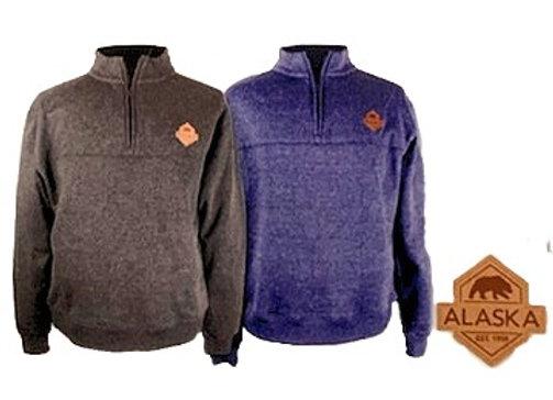 1/4 Zip Mens Emblem Sweater