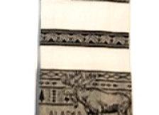 B & W Pattern Moose Hand Towel