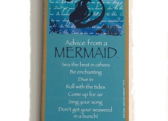 Advice from a Mermaid Sign