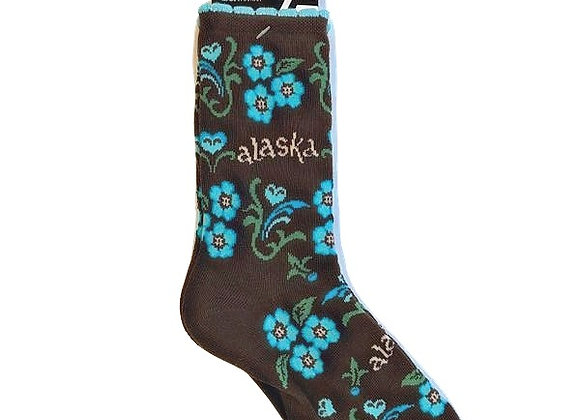 Womens Forget-Me-Not Socks