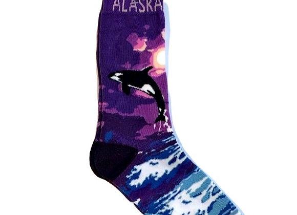 Unisex Jumping Orcas Socks