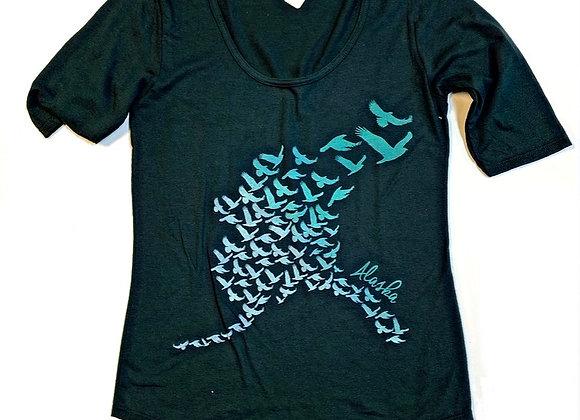 Womens State Shape Birds T-Shirt