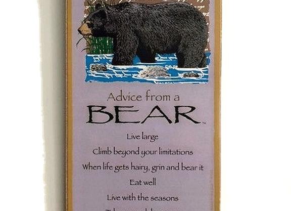 Advice from a Bear Sign