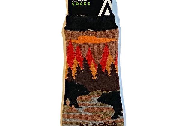 Black Bear Ankle Socks