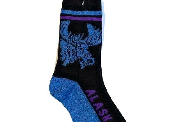 Unisex Blue Moose Socks