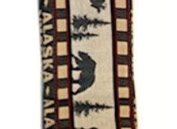 Moose Bear Stripe Hand Towel