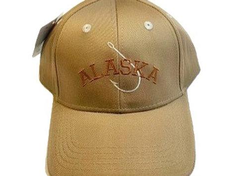 Tan Fish Hook Baseball Hat