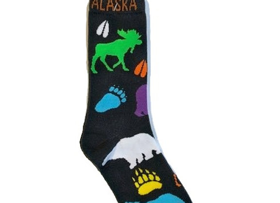 Unisex Rainbow Animal Print Socks
