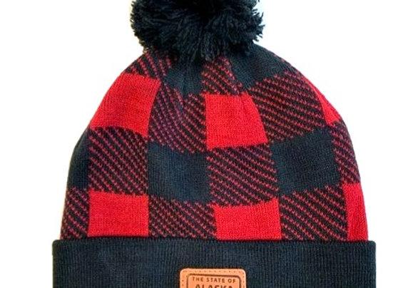 Buffalo Plaid Knit Hat