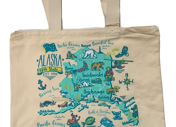 Icon Map Tote Bag in Mint