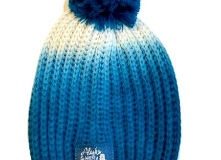 Travel Text Ombre Knit Hat