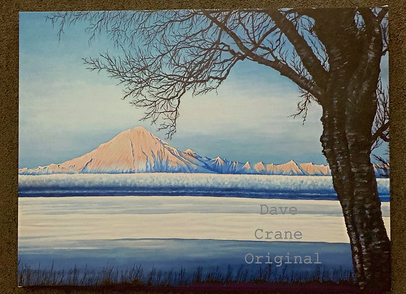 Mt. Redoubt Oil Paint Giclee