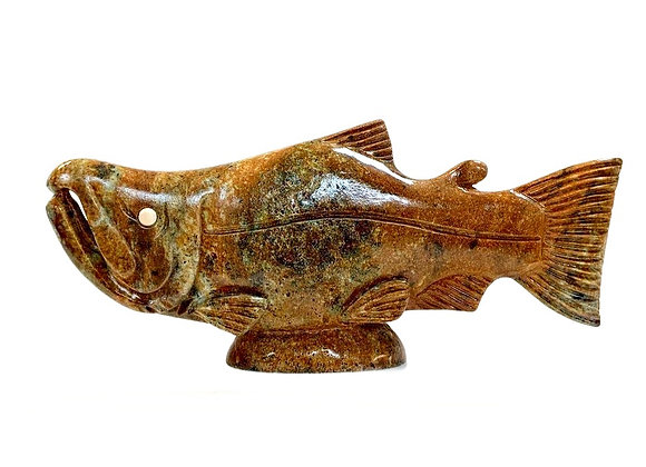Carved Soapstone Large Fish