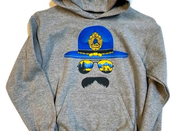 Alaska Trooper Face Kids Hoodie
