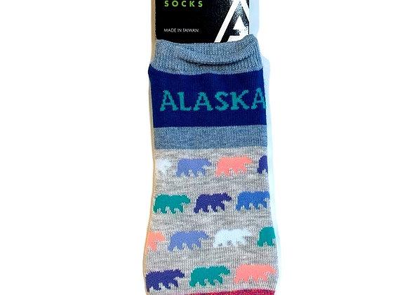 Color Block Bear Ankle Socks