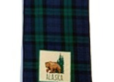 Frontier Plaid Bear Hand Towel