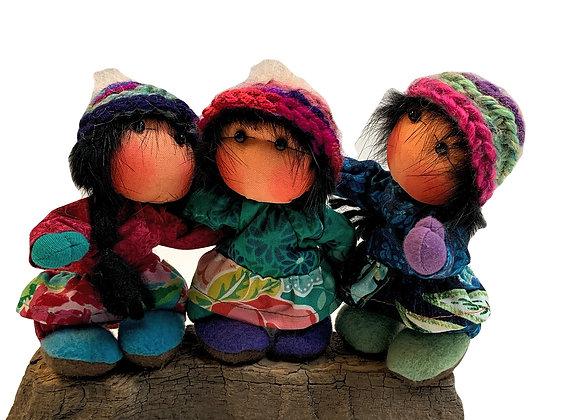 3 Small Dupree Dolls
