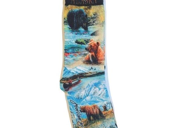 Fishing Bear Socks