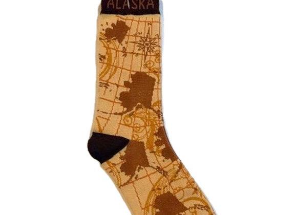 Unisex State Map Socks