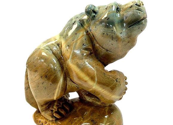 Carved Soapstone Large Bear