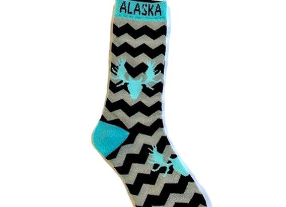Unisex Chevron Teal Antler Socks