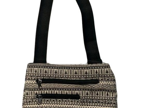 B & W Pattern Crossbody Bag