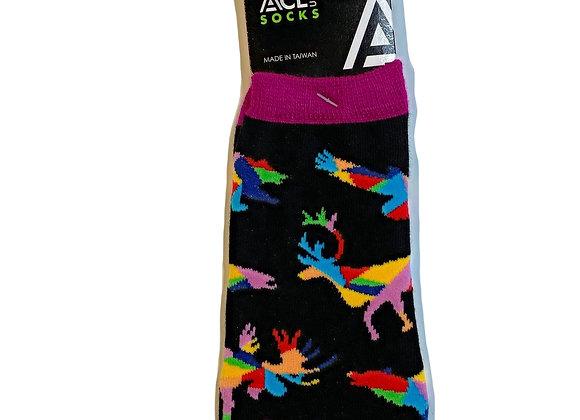 Rainbow Animals Ankle Socks