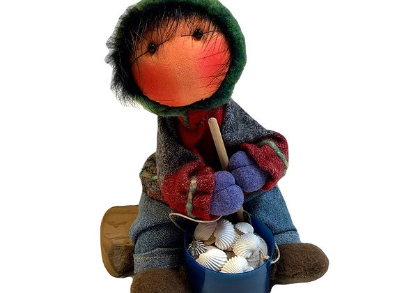 Boy Clam Pot Dupree Doll