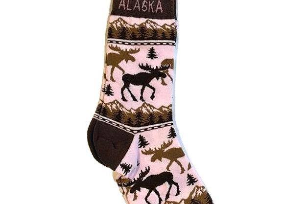 Womens Moose Trees Socks