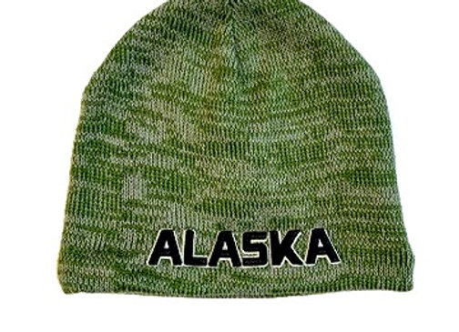 Heathered Army Green Knit Hat