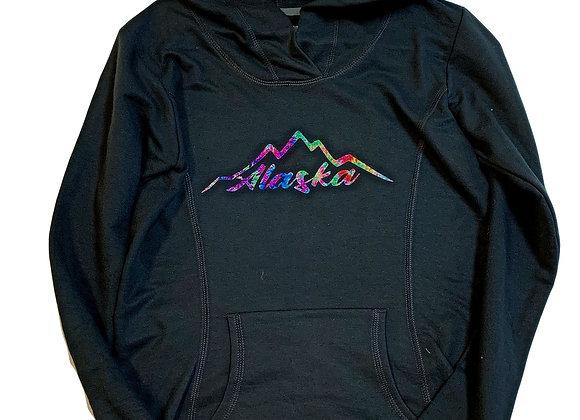 Womens Rainbow Mountains Hoodie
