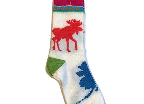 Unisex Alaska Color Block Socks