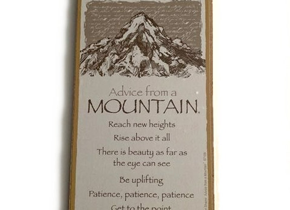 Advice from a Mountain Sign