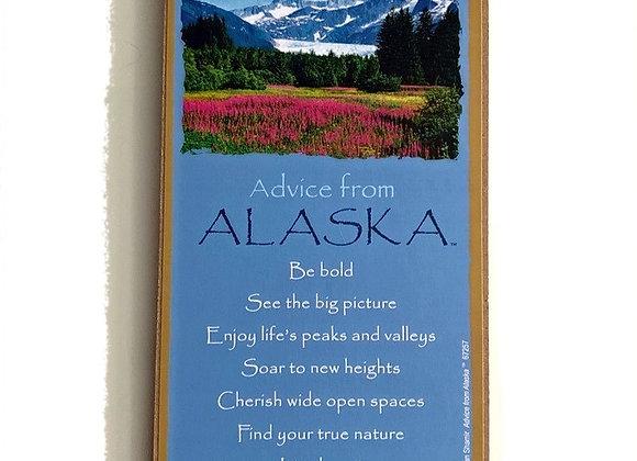 Advice from Alaska Sign