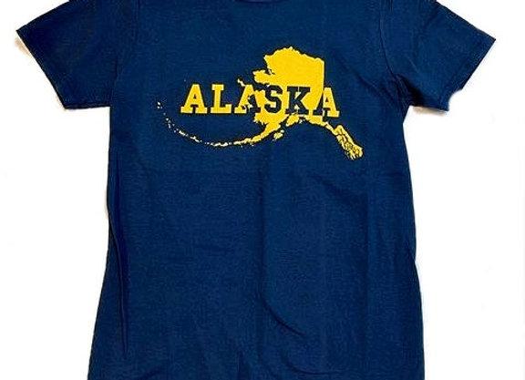 Alaska State Cutout T-Shirt