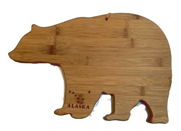 Bear Outline Wood Cutting Board
