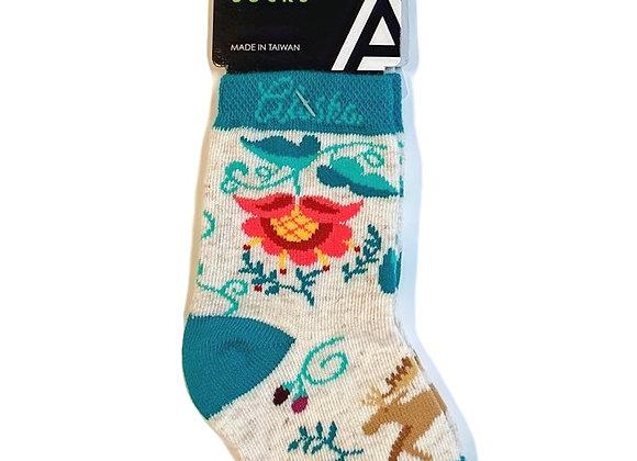 Crewel Moose Infant Socks