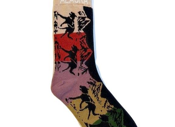 Unisex Color Block Dog Team Socks